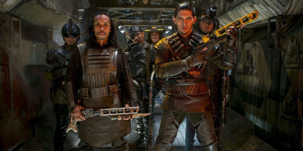 Yayan Ruhian and Iko Uwais in Star Wars: The Force Awakens