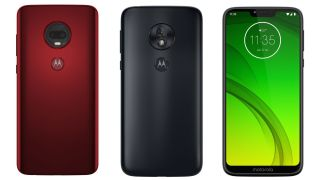 Leaked images of the Moto G7 (L), G7 Power (M), and G7 Plus (R). Image credit: Roland Quandt