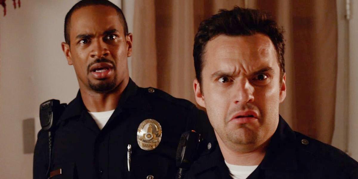 Damon Wayans Jr. alongside Jake Johnson in Let's Be Cops.