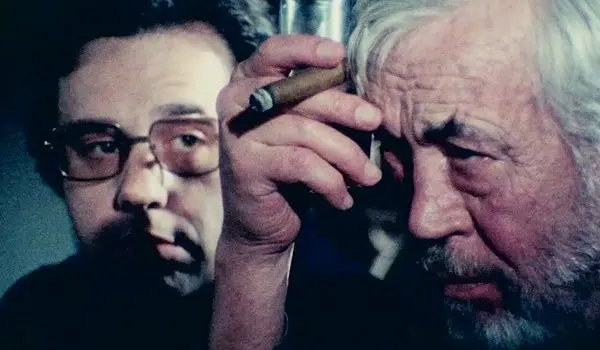 The Other Side of the Wind Peter Bogdanovich and John Huston review some film together