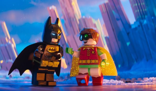 Lego Batman and Lego Robin at the Fortress Of Solitude
