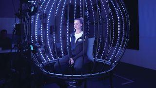 Margot Robbie in a facial capture scan
