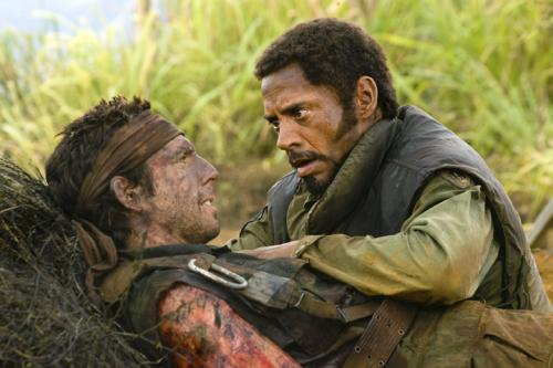 Tropic Thunder - Ben Stiller as Tugg Speedman and Robert Downey Jr as Krik Lazarus