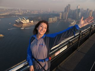 Cruising With Jane Mcdonald - Ep 2 OZ & NZ - Jane basks in the glory of climbing the Sydney Harbour Bridge.