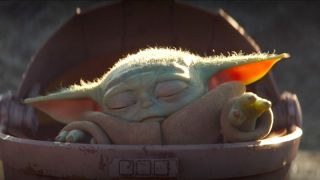 Baby Yoda using the force