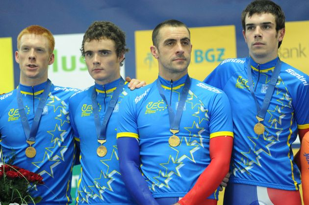 GB men's team pursuit squad win gold, European Track Championships 2010