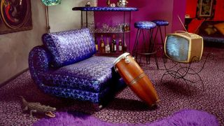 Funky looking purple interior design