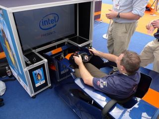 Intel-powered simulator in action