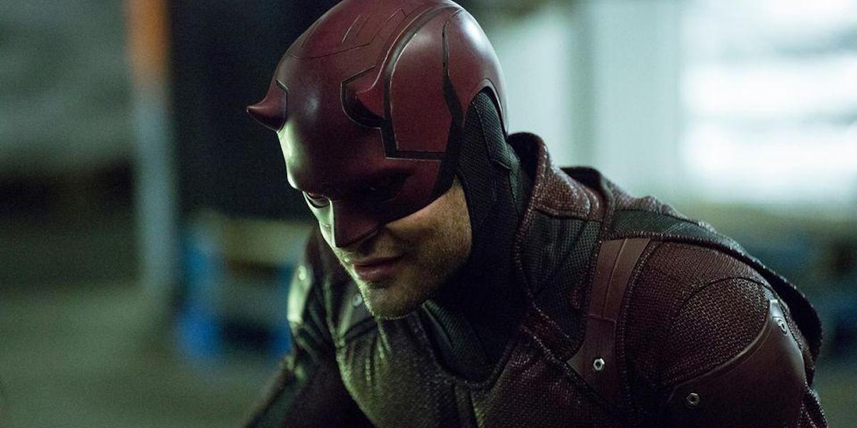 Charlie Cox as Matt Murdock / Daredevil in costume