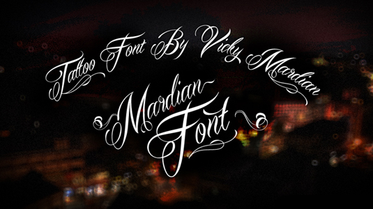 Tattoo fonts: Mardian