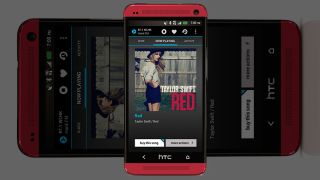 HTC One red with NextRadio