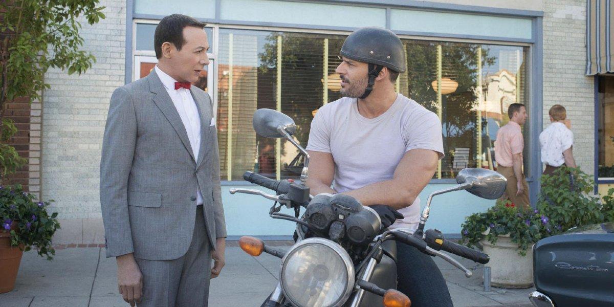 Paul Reubens and Joe Manganiello in Pee-wee's Big Holiday