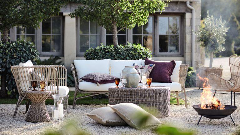 furniture from OKA UK on gravel patio ideas