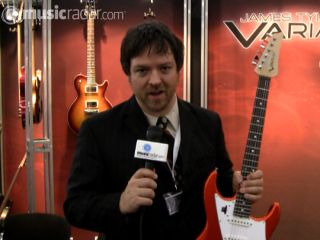 Line 6 s Darrell Smith and one of the new Tyler Variax guitars