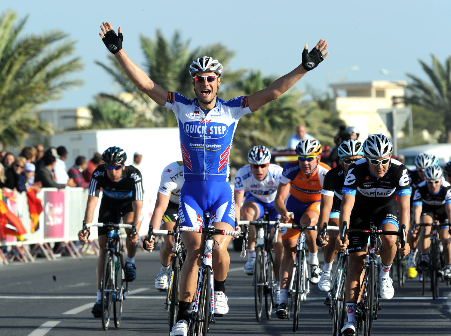 Tom Boonen wins stage, Tour of Qatar 2011, stage one