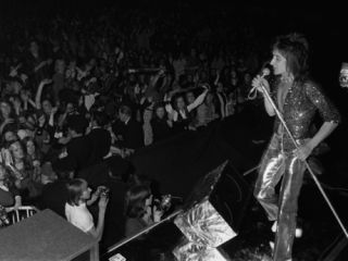 Rod Stewart performing with The Faces in 1972