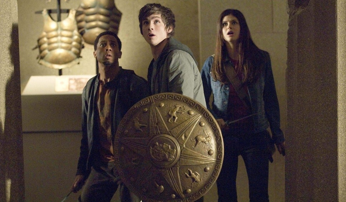 Grover, Percy and Annabeth in Percy Jackson