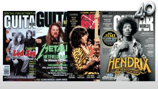 Guitar World covers depicting artists most frequently featured