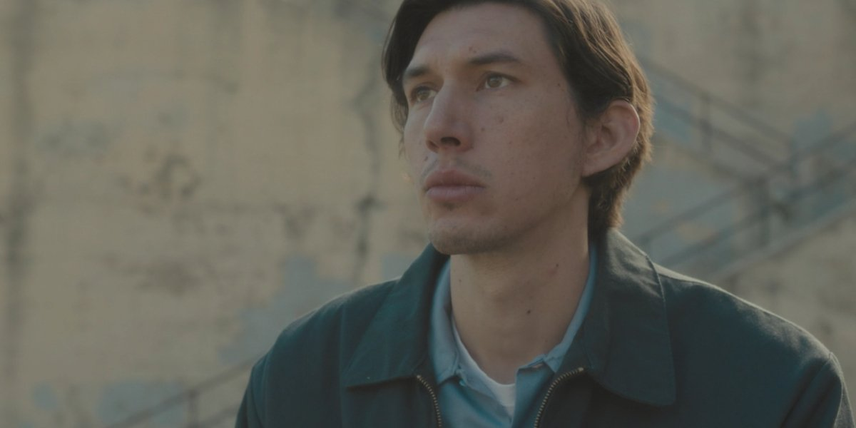 Adam Driver writing poetry in Paterson