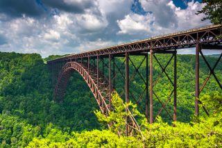 The New River Gorge Bridge in West Virginia.