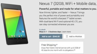 Google Nexus 7 2 4G LTE tablet availability, price