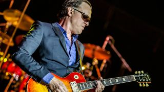 A picture of Joe Bonamassa playing live