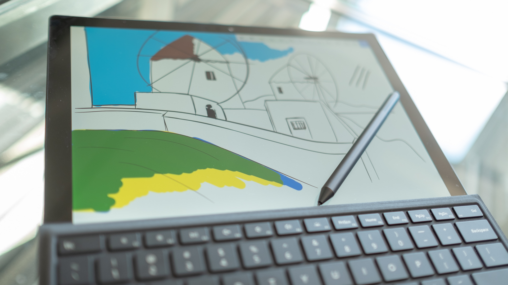 Surface Pro 6 display and pen
