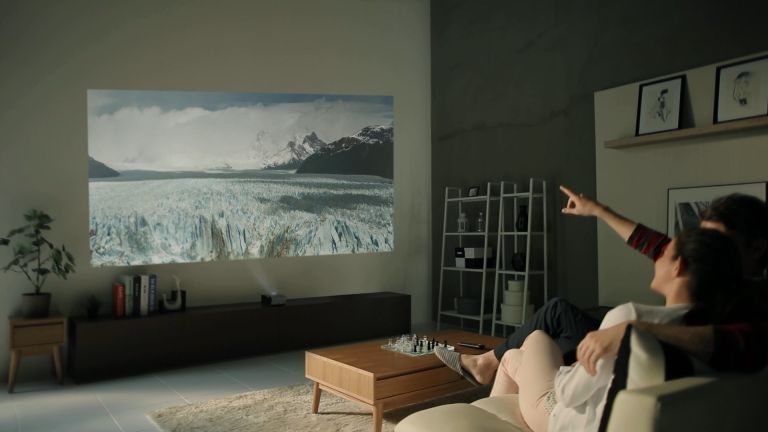 Turn any wall into an 80-inch screen using LG's Minibeam battery powered projectors