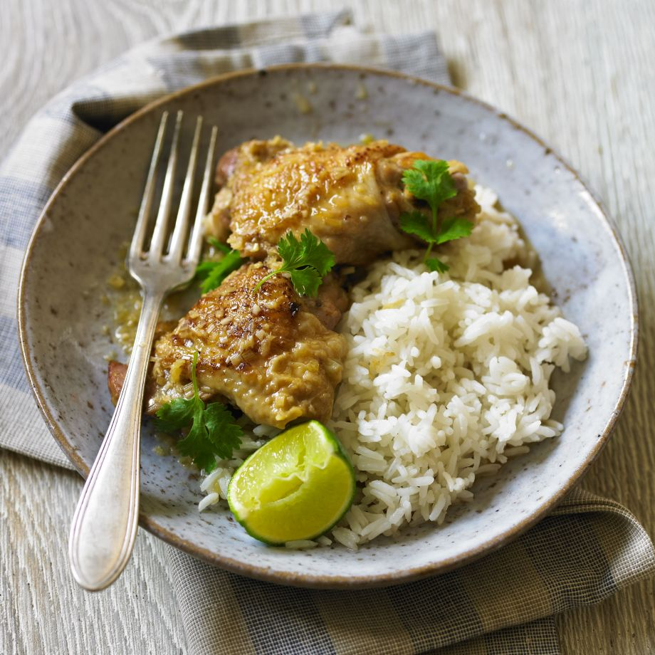 Chicken Braised with Lemongrass and Ginger Recipe