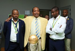 Manqoba Mngqithi, Patrice Motsepe and Rhulani Mokoena