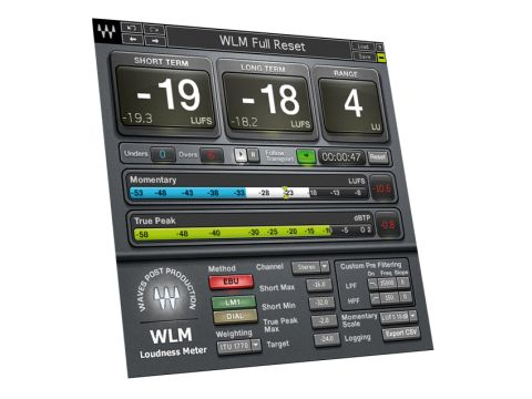 The WLM's display provides large text-based readouts of Short Term, Long Term and Range levels.