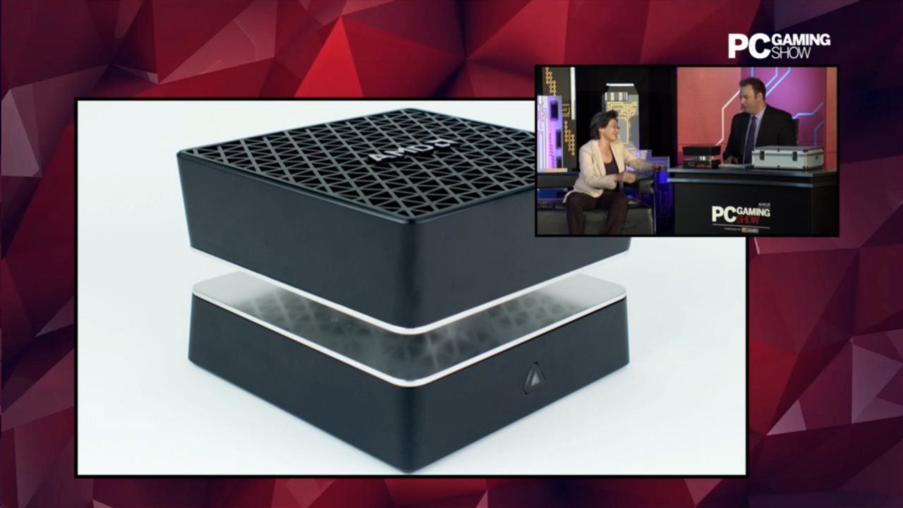 Take A Closer Look At Amd S Tiny Project Quantum Pc Pc Gamer