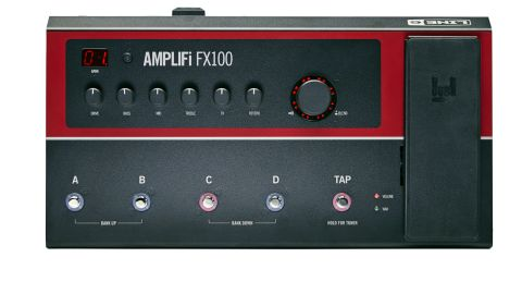 As with its bigger amp-sized brothers, the FX100 has a sleek, modern design