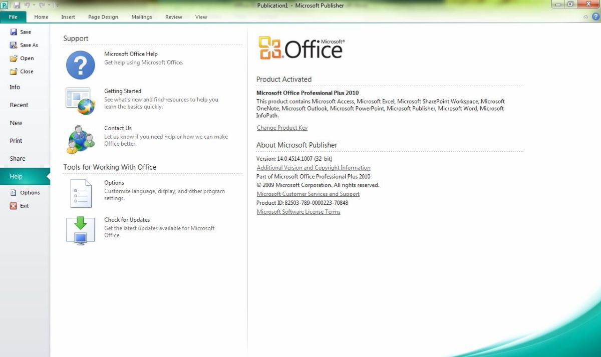 microsoft office 2010 license key check