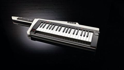 The RK100S is in essence a tweaked MicroKorg XL in a sleek keytar body with two ribbon controllers