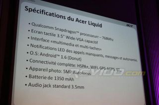 The Acer Liquid slow down - revealed