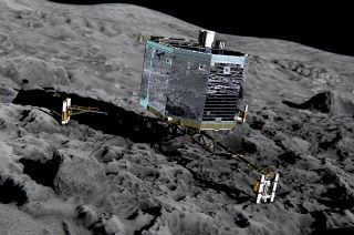 Artist's rendition of the European Space Agency's Philae lander