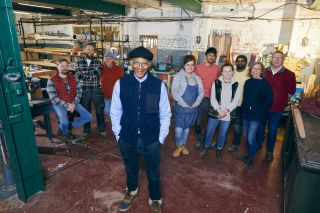 Jay Blades and his apprentices are ready to spread some joy from his Yorkshire workshop.