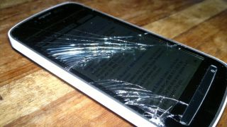 Broken cell phone, self-destructing cell phone, security