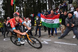 Damiano Caruso (Bahrain Victorious) gave the Italian fans something to be excited about on stage 20
