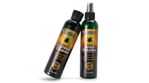 The Cymbal Cleaner specialises in metalwork, but the Drum Detailer can be used on both cymbals and drums
