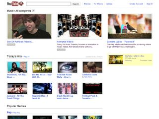 The new music landing page