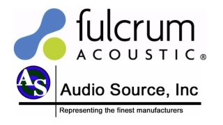 Fulcrum Acoustic Appoints Audio Source as Regional Sales Rep