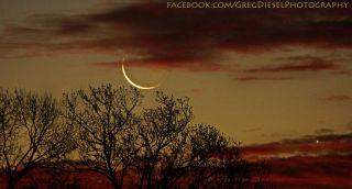 Moon Venus Sunrise North Carolina Greg Diesel Walck