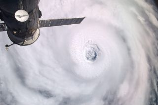 Astronauts Savor View of Hurricane 'Igor the Terrible' and Sister Storm