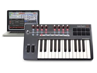 There are 25 and 49 note versions of the Nocturn Keyboard