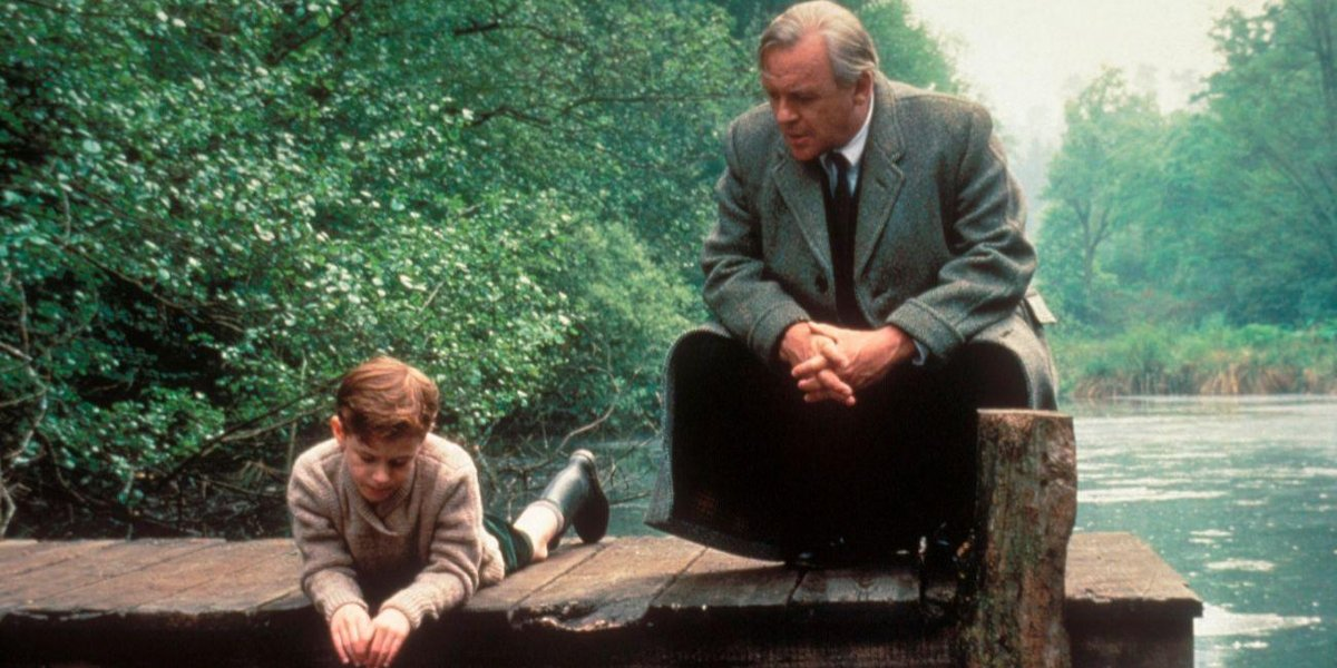 Joseph Mazzello and Anthony Hopkins in Shadowlands