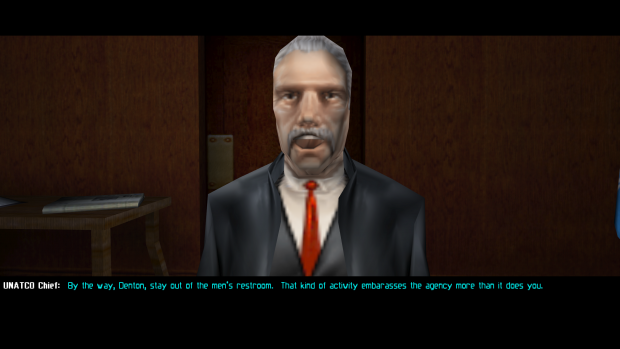 Dialogue options from Deus Ex modded to include a female JC.