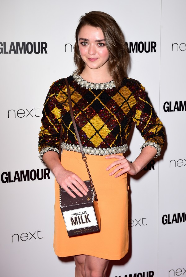 Maisie Williams attending the Glamour Women of the Year Awards 2015