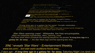 Google Search Star Wars crawl